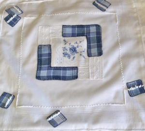 One of my favourites, I like the blue check and white bullion stitches